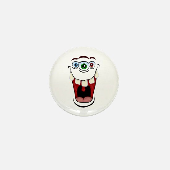 3 Eyed Monster Mini Button