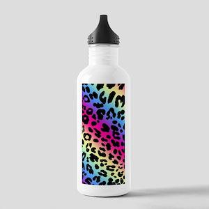 Neon Leopard Print Stainless Water Bottle 1.0L