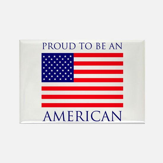 Proud American Rectangle Magnet