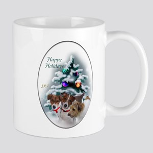 Jack Russell Terrier Christmas 11 oz Ceramic Mug
