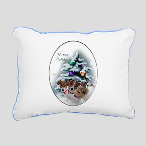 Jack Russell Terrier Chr Rectangular Canvas Pillow