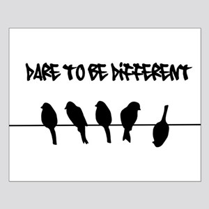 Dare to be Different Birds on a wire Poster Design
