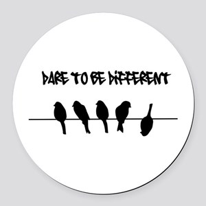 Dare to be Different Birds on a wire Round Car Mag