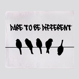 Dare to be Different Birds on a wire Throw Blanket