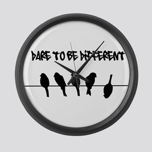 Dare to be Different Birds on a wire Large Wall Cl