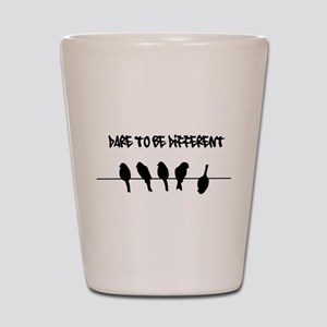 Dare to be Different Birds on a wire Shot Glass