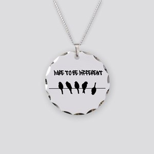 Dare to be Different Birds on a wire Necklace Circ