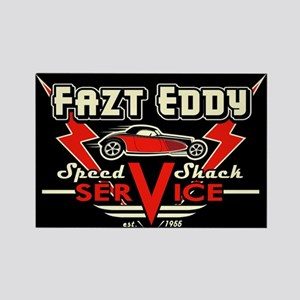 Fazt Eddy Speed Shack Service Rectangle Magnet