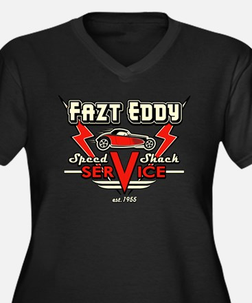 Fazt Eddy Speed Shack Service Women's Plus Size V-