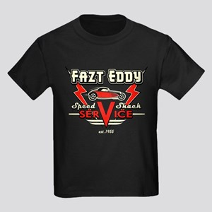 Fazt Eddy Speed Shack Service Kids Dark T-Shirt