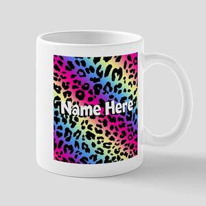 Personalized Rainbow Leopard Mug