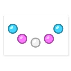 Trans Baubles Rectangle Decal