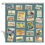 Vintage Florida Postcards Shower Curtain