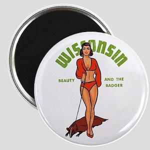 Vintage Wisconsin Pinup Magnet