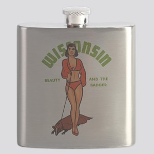 Vintage Wisconsin Pinup Flask