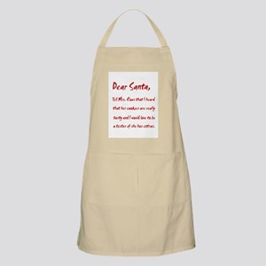 Dear Santa Tell Mrs. Claus BBQ Apron