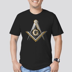 Masonic Square and Compass Men's Fitted T-Shirt (d