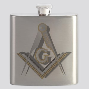 Masonic Square and Compass Flask