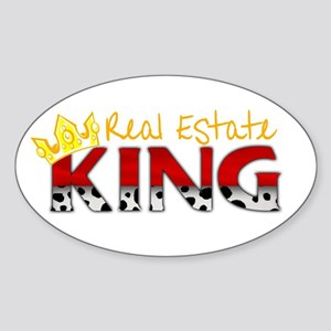 Real Estate King Oval Sticker
