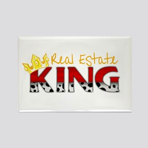 Real Estate King Rectangle Magnet