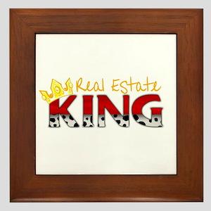 Real Estate King Framed Tile