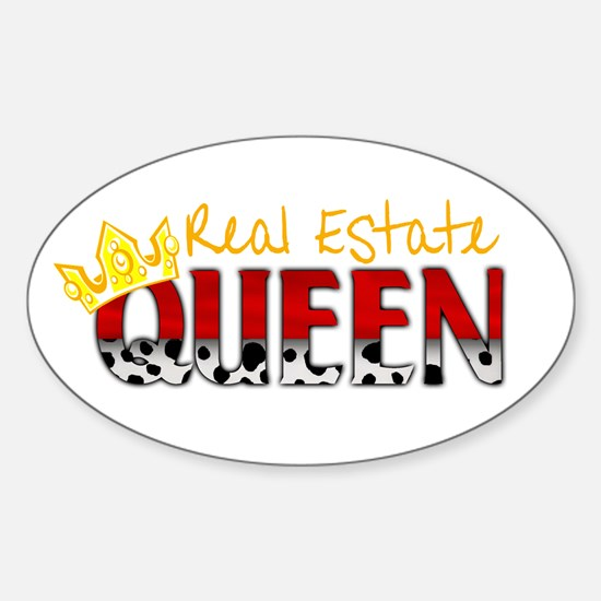 Real Estate Queen Oval Decal