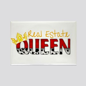 Real Estate Queen Rectangle Magnet