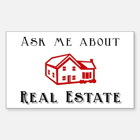 Real Estate Rectangle Decal