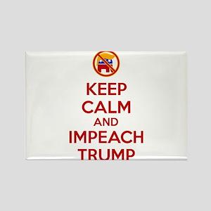Keep Calm and Impeach Trump Magnets