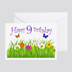 Whimsical Butterfly Recovery Birthday Card 9 Years