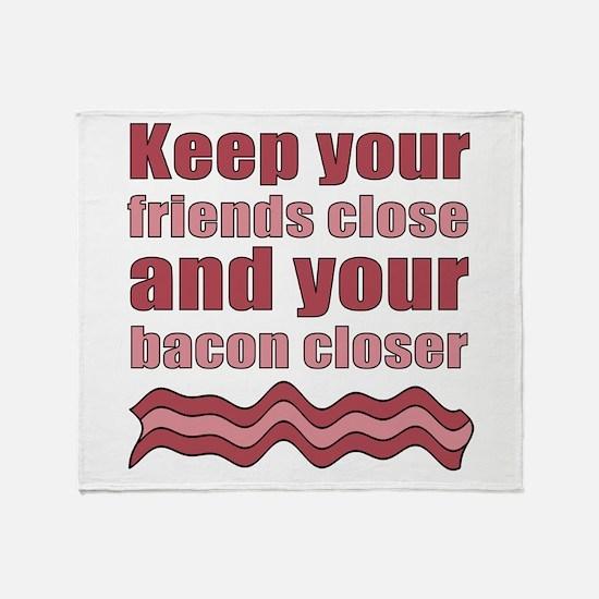 Bacon Humor Saying Throw Blanket