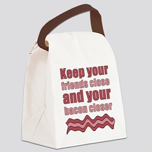 Bacon Humor Saying Canvas Lunch Bag