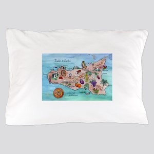 Map Of Sicily Pillow Case