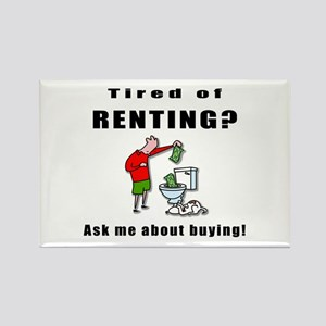 RENTING? Rectangle Magnet