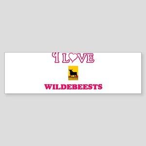 I Love Wildebeests Bumper Sticker