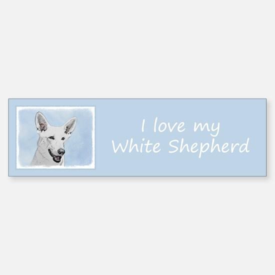 White Shepherd Sticker (Bumper)