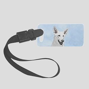 White Shepherd Small Luggage Tag