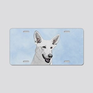 White Shepherd Aluminum License Plate