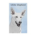 White Shepherd Sticker (Rectangle 10 pk)