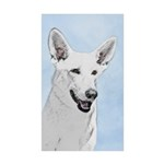 White Shepherd Sticker (Rectangle 50 pk)