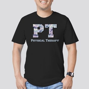 PT Camo Gray Men's Fitted T-Shirt (dark)