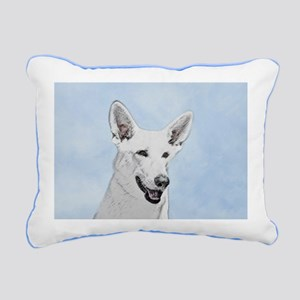 White Shepherd Rectangular Canvas Pillow