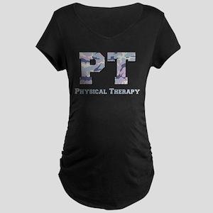 PT Camo Gray Maternity Dark T-Shirt