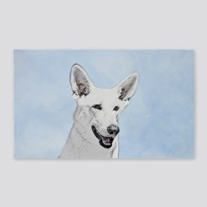 White Shepherd Area Rug