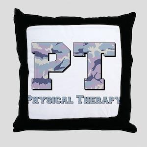 PT Camo Gray Throw Pillow