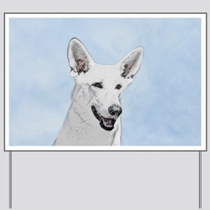 White Shepherd Yard Sign