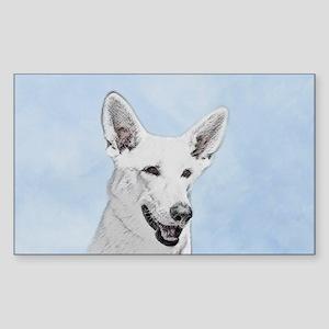 White Shepherd Sticker (Rectangle)