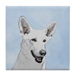 White Shepherd Tile Coaster