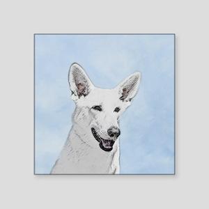 "White Shepherd Square Sticker 3"" x 3"""