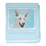 White Shepherd baby blanket